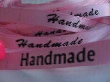 2 m ROSA BORTE Ribbon Webband Etiketten LABEL ♥ HANDMADE ♥ Breite 1 cm / 10 mm