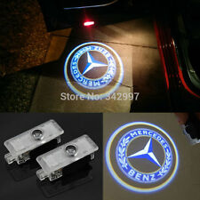 2x LED Door Step Courtesy Shadow Laser Light For Mercedes CLA + E-Class 2 Door