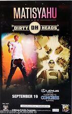 MATISYAHU / DIRTY HEADS 2013 SAN DIEGO CONCERT TOUR POSTER - Reggae Rap Music