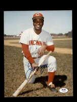 Joe Morgan PSA DNA Coa Hand Signed 8x10 Photo Autograph