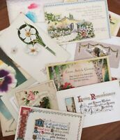 Vintage Lot of 15 Birthday Greeting Postcards(Flowers)  (Early 1900's)