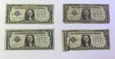 Lot of 4   $1 Silver Certificate Note Blue Seal (2)1928, (2)1928A