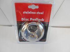 Stainless Steel Disc Padlock.  Gate Receptacles. 2 Keys  NO1