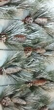 Set Of 10 Pine Cone And Snow Floral Pine Tree Branch Sprays With Pinecones