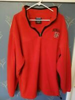Men's Nebraska Cornhuskers NCAA Fleece 1/4 Zip Jacket Red Size XL Extra Large