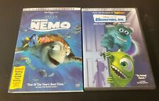 Walt Disney Pixar Dvd Lot Collectors Edition Finding Nemo & Monsters Inc (5A)