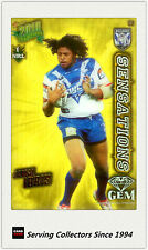 2010 Select NRL Champions Sensation Gem Card SG3 JAMAL IDRIS (Bulldogs)