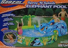 Banzai Spray N Splash Elephant Pool Refreshing Backyard Fun 82x58x27 Ages 2+ Nib