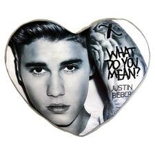 OFFICIAL Licensed Product Justin Bieber a forma di Cuore Cuscino Cuscino Fan Regalo Nuovo