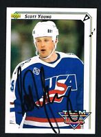 Scott Young signed autograph auto 1992-93 UD Hockey Trading Card