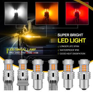 2* Bombillas LED Freno/Posicion, Canbus, 1156 1157 3157 7440, 6500K, Rojo/Blanco