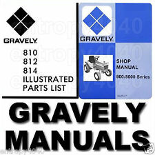 Gravely 800 Series Tractor SERVICE Manual OWNER & Parts Catalog -7- Manuals CD