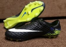 Nike Hypervenom Phinish FG Mens Soccer Cleats Size 10 Black Blue Volt 749901-017
