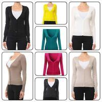 Women Cardigan Long Sleeve V neck Knit Sweater Cardigan (S-3XL)