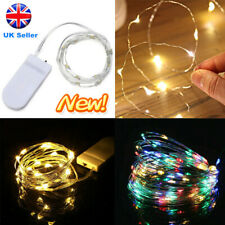 20/40/60 LED Battery Micro Rice Wire Copper Fairy String Lights Party Decor NEW