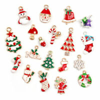 19pcs Metal Alloy Mixed Christmas Charms Set Jewellery Pendants Decor Modern UK