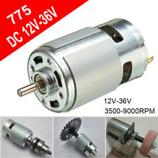 775 DC 12V-36V 3500-9000RPM High Power Motor Ball Bearing Large Torque Low Noise
