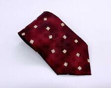 Burma Bibas Tie Burgundy White Polka Dot Silk 57 x 4 USA 1800 Ties 4 Sale