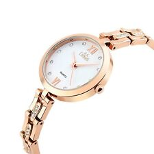 Luxury Rose Gold Diamond Wrist Watch For Women, For Formal And Casual Outfits.