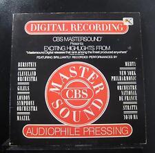 Various - CBS Mastersound Highlights LP VG+ AS 902 CBS White Promo 1/2 Speed
