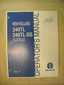 New Holland 240TL & 240TL-S loader operators manual for TC31DA & TC34DA tractors