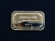 1993 SilverTowne Winchester Rifle Model 21 ST-237 Silver Art Bar P2379