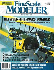 Fine Scale Modeler Nov.94 Keystone B-4A B-25D Strafer Monogram Mitchell Acrylic