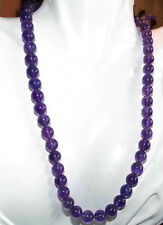 """Amethyst Gemstones Round Beads Necklace Aaa 24"""" 36"""" 50"""" 6mm 8mm 10mm Russican"""