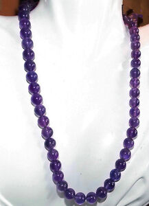 """Long 18""""- 50"""" 6mm 8mm 10mm Russican Amethyst Gemstones Round Beads Necklace AAA"""