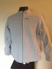 "New Oakley ""FA10"" Polar Full Zip Fleece Jacket Men's Large Grey Slate PICS!!"