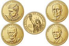 2015 D Presidential One Dollars Coins 4 Coins President U.S. Mint Rolls Money