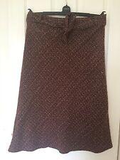 Ladies M&Co Brown Tweed Skirt Size 14 Petite