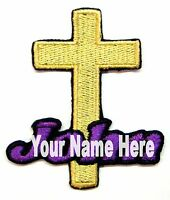 Cross Custom Iron-on Patch With Name Personalized Free