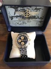 Vintage Style Pilots BREITLING CHRONOMAT AUTOMATIC 18ct Gold Steel Watch In Box