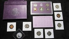 PROOF+1937 INDIAN HEAD +1946 90% SILVER QUARTER+1956 NICKEL+1968-S CENT~#B100