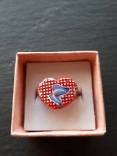 New childs red love heart butterfly ring UK size G.5! Childrens kids jewellery!
