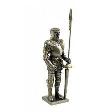 Medieval Metal Jousting Knight Armour Lance Helmet Ornament 13cm