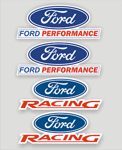 4x Ford Performance / Racing logo decals, stickers, quality vinyl & laminated