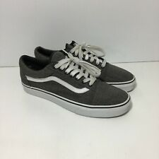 Vans Classic Old Skool Canvas Gray Black Size Men's 9 women's 10.5 White Stripe