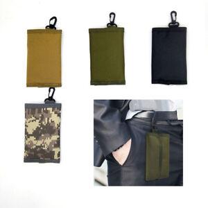Taktische Faltbare Brieftasche EDC Pouch Hüfttasche Tasche Schlüsselkarten Haken