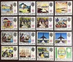 Seychelles 1969-75 Definitives 16 Values To 15r FU
