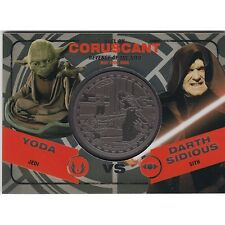2015 Star Wars Chrome Perspectives Silver Medallion Yoda Vs Sidious 080/ 150