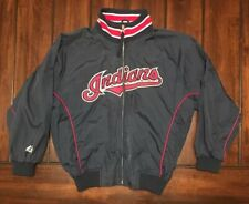MLB Baseball Cleveland Indians Majestic Nylon Jacket Youth Kids Medium