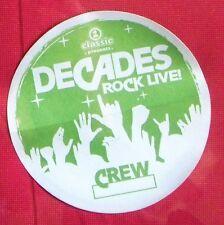 Vh1 Classic Presents Decades Rock Live Tour Satin Backstage Pass