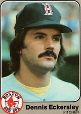 1983 Fleer Dennis Eckersley, Red Sox, #182 Baseball Card