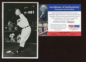 1955 Bob Lemon Cleveland Indians Postcard Autographed PSA/DNA