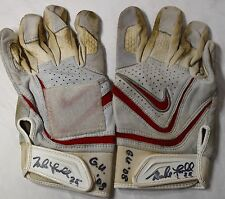 MIKE LOWELL GAME USED AUTOGRAPHED SIGNED 2008 BATTING GLOVES WORLD SERIES MVP