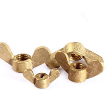 5Pcs M3/M4/M5/M6/M8/M10/M12 GB62 Solid Brass Wing Nut Brass Nuts