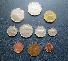 SET OF PRE-EURO DECIMAL IRISH COINS Half Penny to Punt (myref#1)