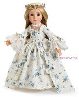 "Doll Clothes 18"" SLIM Dress Marie Antoinette Shoes Carpatina Fits AG Dolls"
